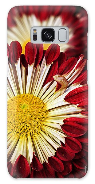 Red Burst Galaxy Case by Robert Pilkington