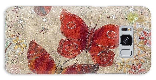 Red Butterflies Galaxy Case