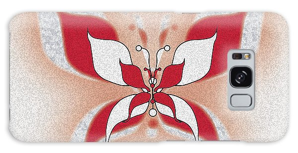 Red Butterfly Galaxy Case by Christine Perry