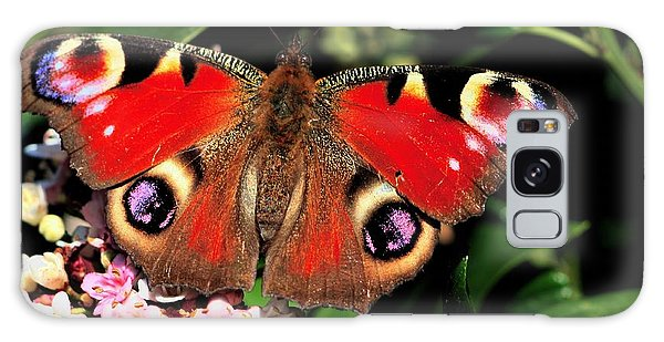 Red Butterfly In The Garden Galaxy Case
