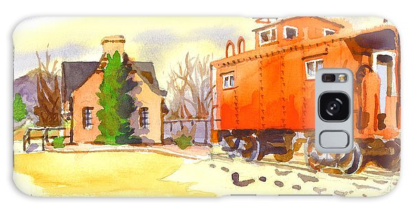 Red Caboose At Whistle Junction Ironton Missouri Galaxy Case