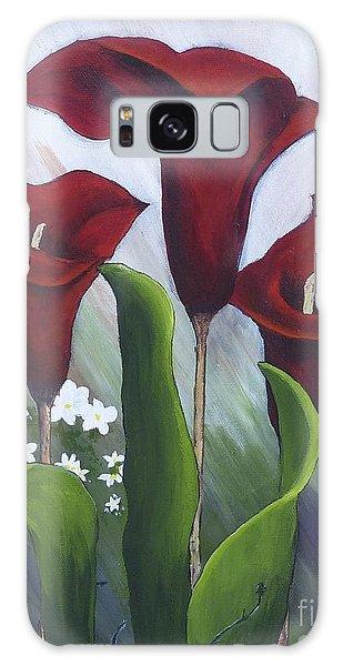 Red Calla Lilies Galaxy Case
