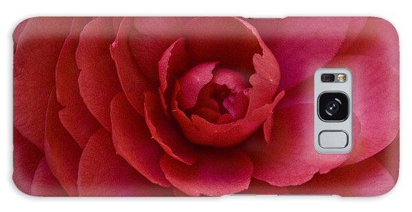Red Camellia Galaxy Case