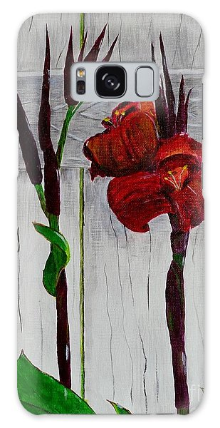 Red Canna Lily Galaxy Case