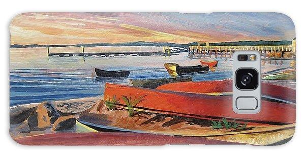 Red Canoe Sunset Galaxy Case