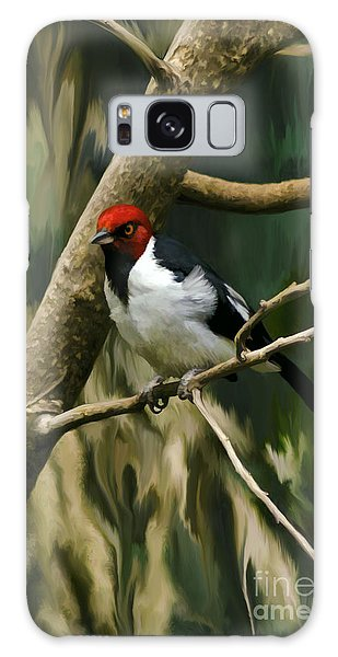 Red-capped Cardinal Galaxy Case by Adam Olsen