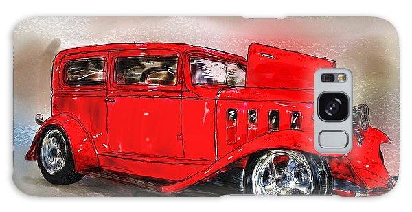 Red Car Galaxy Case