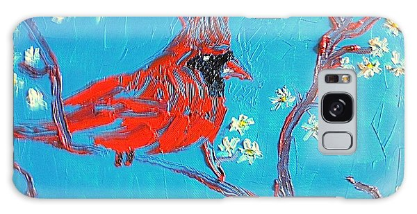 Red Cardinal Spring Galaxy Case by Richard W Linford