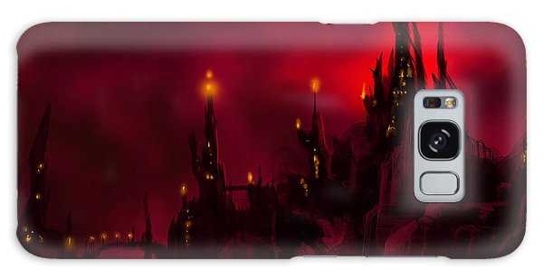 Red Castle Galaxy Case by James Christopher Hill