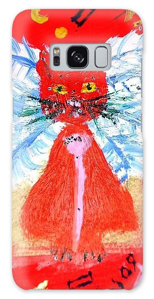 Red Cat I Galaxy Case by Leslie Byrne
