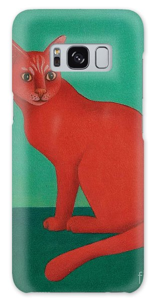 Red Cat Galaxy Case by Pamela Clements