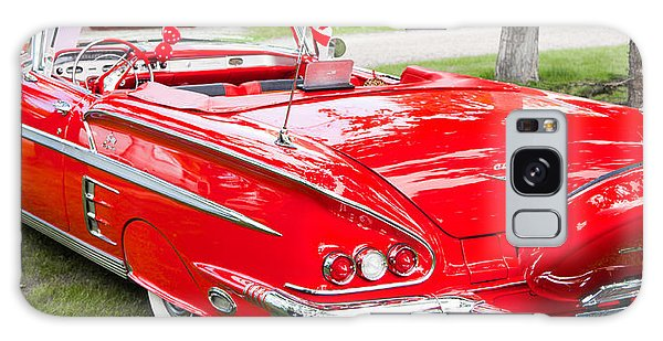 Red Chevrolet Classic Galaxy Case by Mick Flynn