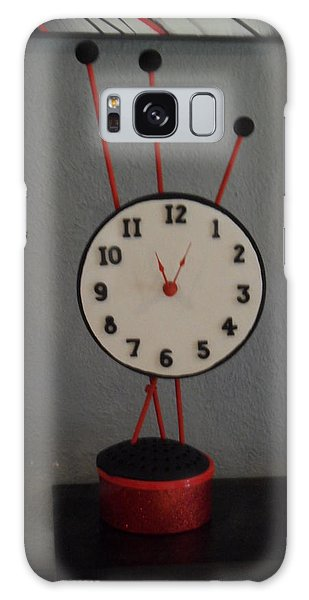 Red Clock Galaxy Case