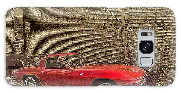 Red Corvette Galaxy Case by Steve Karol