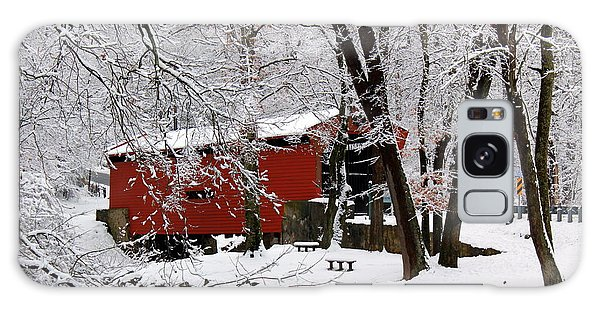 Red Covered Bridge Winter 2013 Galaxy Case