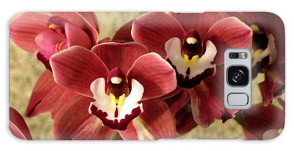 Red Cymbidium Orchid Galaxy Case