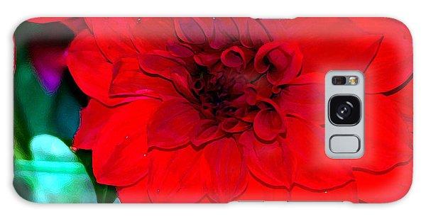 Red Dahlia Galaxy Case by Lehua Pekelo-Stearns