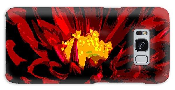 Red Dahlia Abstract Galaxy Case by Olivia Hardwicke