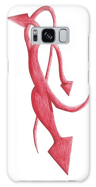 Red Devil Galaxy Case by Giuseppe Epifani