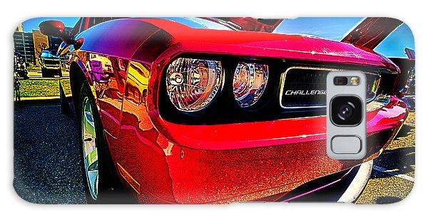 Red Dodge Challenger Vintage Muscle Car Galaxy Case