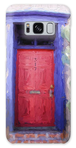 Red Door 317 Tucson Barrio Painterly Effect Galaxy Case