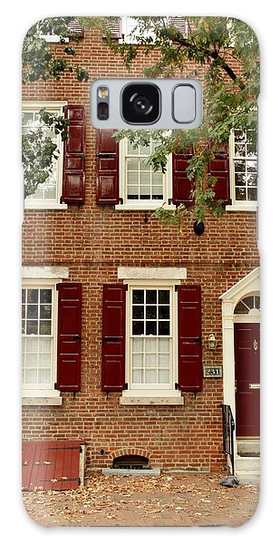 Red Door And Shutters Galaxy Case by Christopher Woods