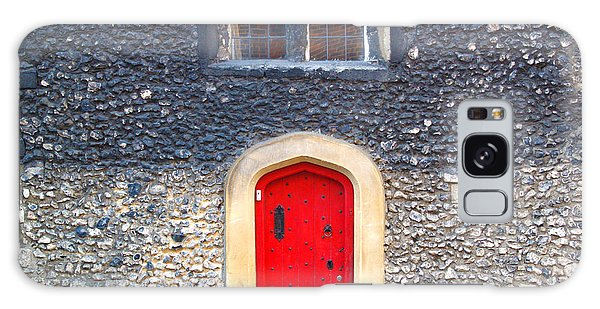 Red Door In Winchester Uk Galaxy Case by Haleh Mahbod