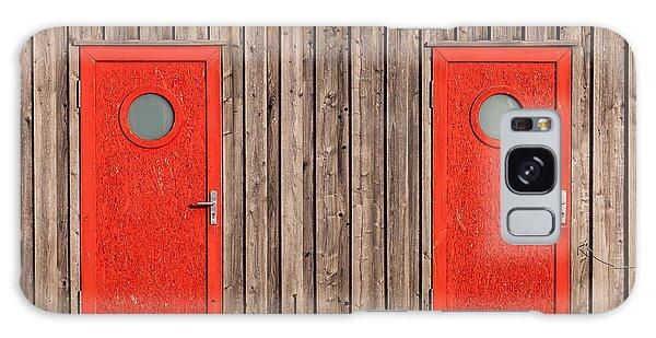 Red Door Or Red Door Galaxy Case