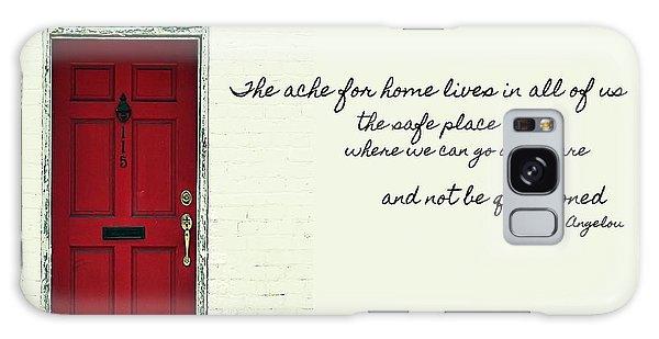 Red Door Quote Galaxy Case