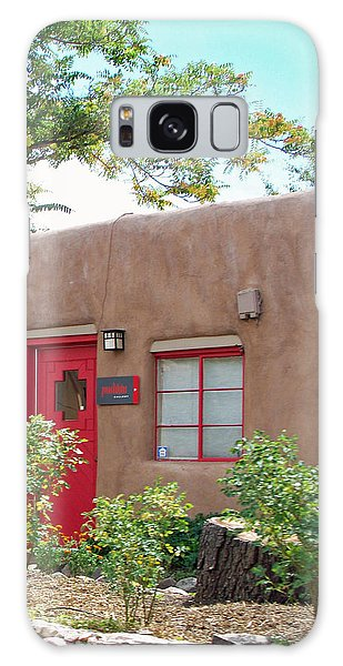 Red Door Galaxy Case by Sylvia Thornton