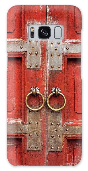 Red Doors 01 Galaxy Case