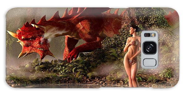 Red Dragon And Nude Bather Galaxy Case
