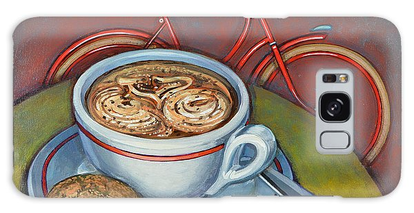 Red Dutch Bicycle With Cappuccino And Amaretti Galaxy Case by Mark Jones