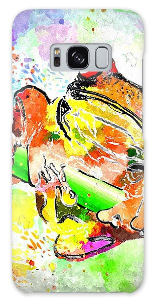 Red Eyed Tree Frog Grunge Galaxy Case by Daniel Janda