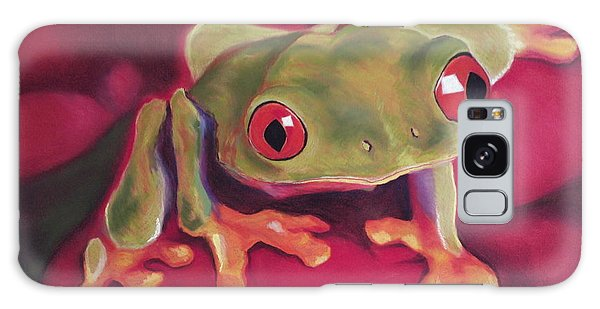 Red-eyed Tree Frog On Red Foliage Galaxy Case