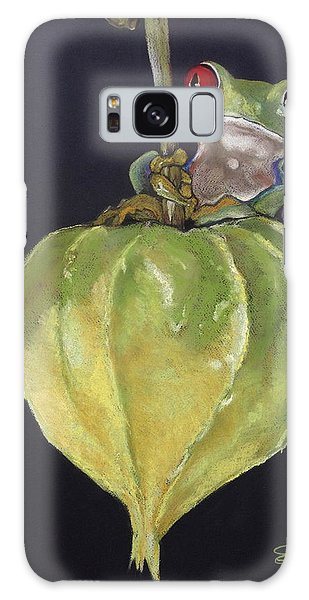 Red-eyed Tree Frog On Seed Pod Galaxy Case