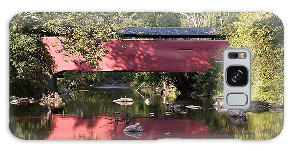 Red Fairhill Covered Bridge Two Galaxy Case