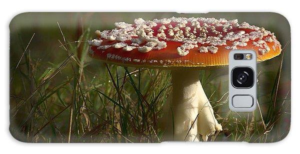 Red Fairy Mushroom Galaxy Case by Shirley Mitchell