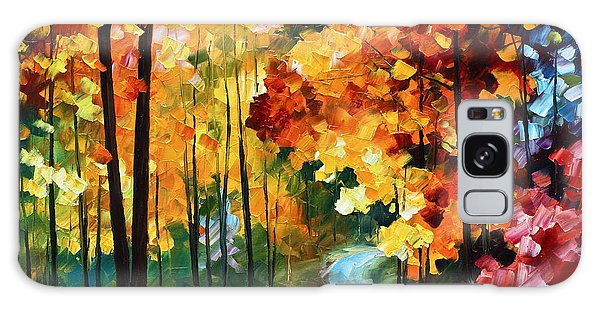 Scenery Galaxy Case - Red Fall by Leonid Afremov