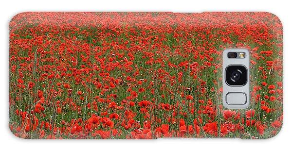 Red Field Galaxy Case by Simona Ghidini