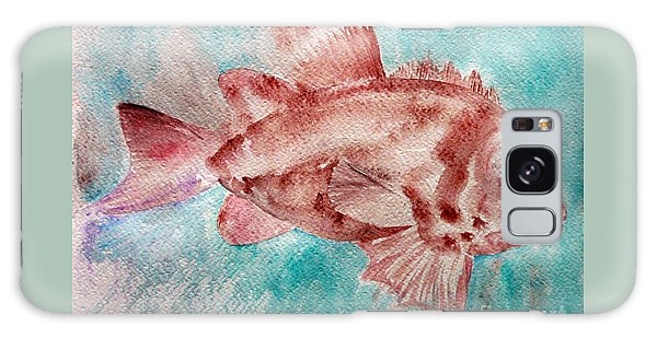 Red Fish Galaxy Case by Jasna Dragun