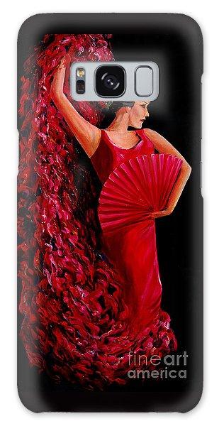 Red Flamenco Dancer Galaxy Case by Nancy Bradley