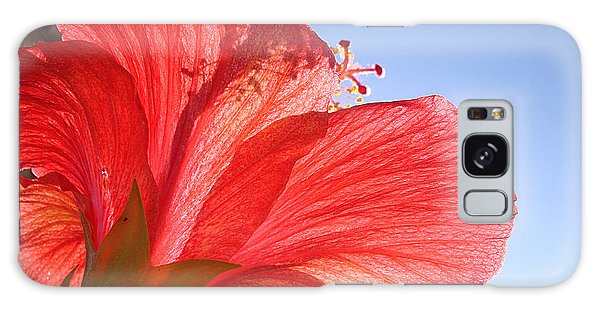 Red Flower In The Sun By Jan Marvin Studios Galaxy Case