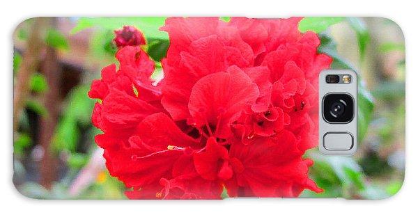 Red Flower Galaxy Case by Sergey Lukashin