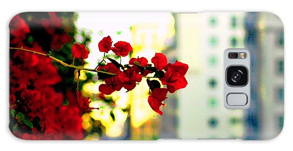 Red Flowers Downtown Galaxy Case by Matt Harang