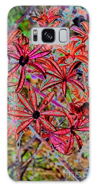 Red Flowers Galaxy Case by Karen Newell