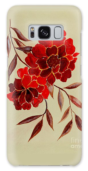 Red Flowers - Painting Galaxy Case