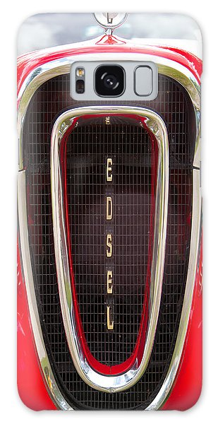 Red Ford Edsel Grill Detail Galaxy Case by Mick Flynn