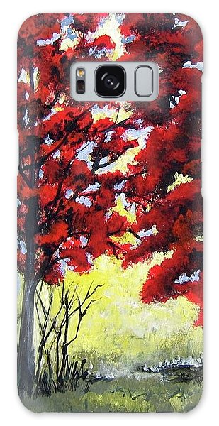 Red Forest Galaxy Case by Suzanne Theis