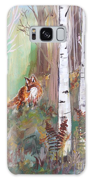 Red Fox And Cardinals Galaxy Case